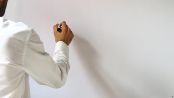 man writing learn english
