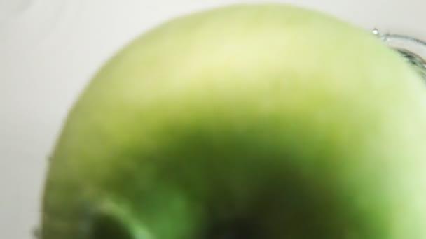 Green Apple Drop Down In Water