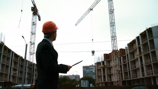 Architect conduct the construction crane