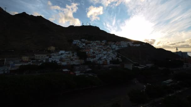 Sunrise with Rinning Clouds On Tenerife Island