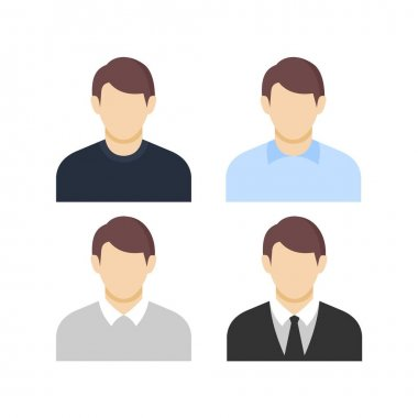 Set of man, businessman, Set of man, businessman, character, Business, male, man, office, people, person, website icon, character avatar ico icon