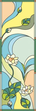 Swamp lily background stained glass window
