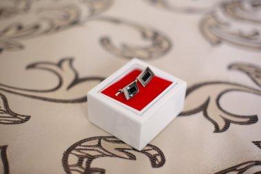 Cufflinks in little box