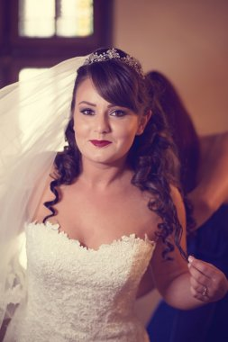 Beautiful bride on her wedding day