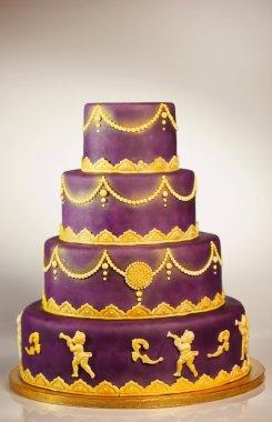 Unique 4-tier wedding cake