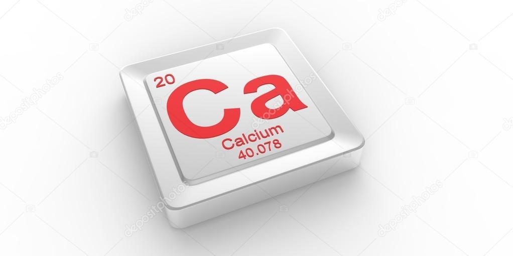 Ca Symbol 20 Material For Calcium Chemical Element Of The Periodic