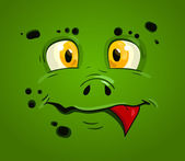 Vicces rajzfilm-monster