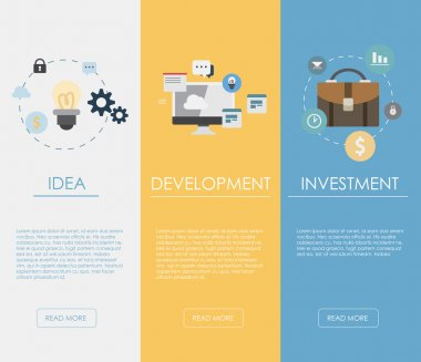 Web banners for business, finance