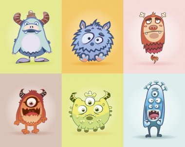 Set funny monsters