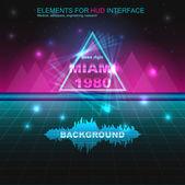 80s retro sci-fi pozadí
