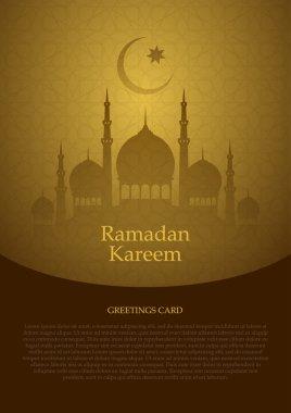 Ramadan Kareem moon card