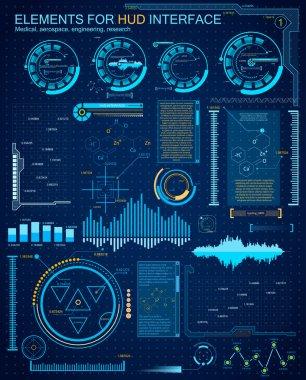 Futuristic interface background