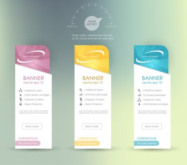 Business infographics tabs template