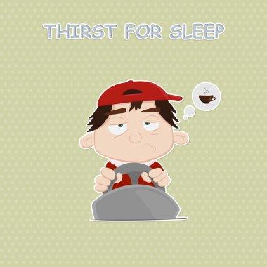 Sleepy hero. caffeine dependence