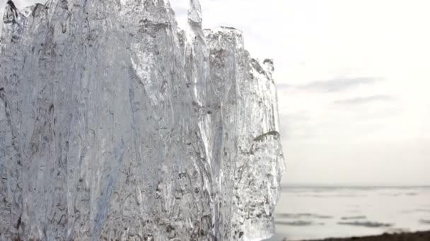 4k Zeitraffer-Eisschmelze. Erderwärmung.