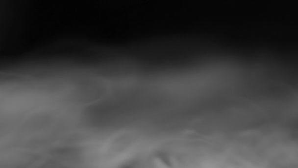 Kouřové fragmenty na černém pozadí
