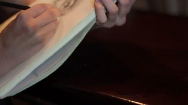 lány rajz egy tökfej a Jegyzettömb notebook