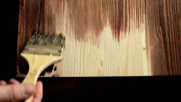 peindre table en bois de brosse peinture avec lasure video
