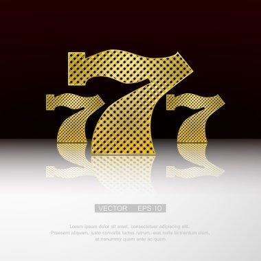 Casino Symbol 777 Free Vector Eps Cdr Ai Svg Vector Illustration Graphic Art