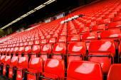 Fotografie Jasně červený stadion sedadlo