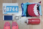 Fényképek A verseny napján készen lefektetett futás megtöm