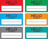 Fényképek Hello my name is sticker icon set color