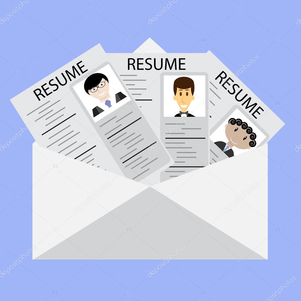 Carta a reanudar en los candidatos de trabajo — Archivo Imágenes ...