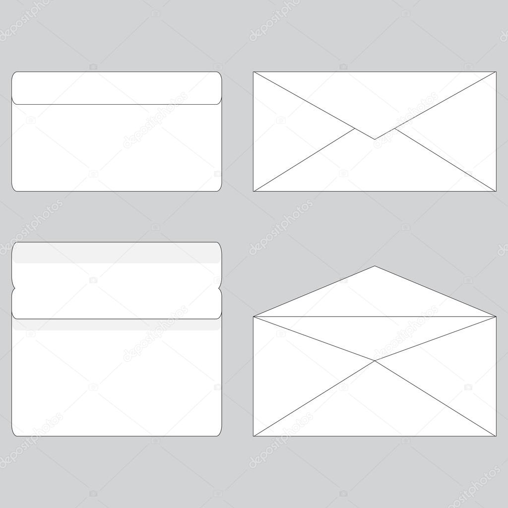 Envelope Paper For Letter Open And Close  Stock Vector