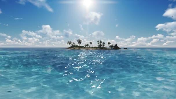 Modrá obloha  ostrov