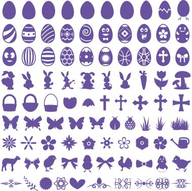 Easter Vector Shapes Set