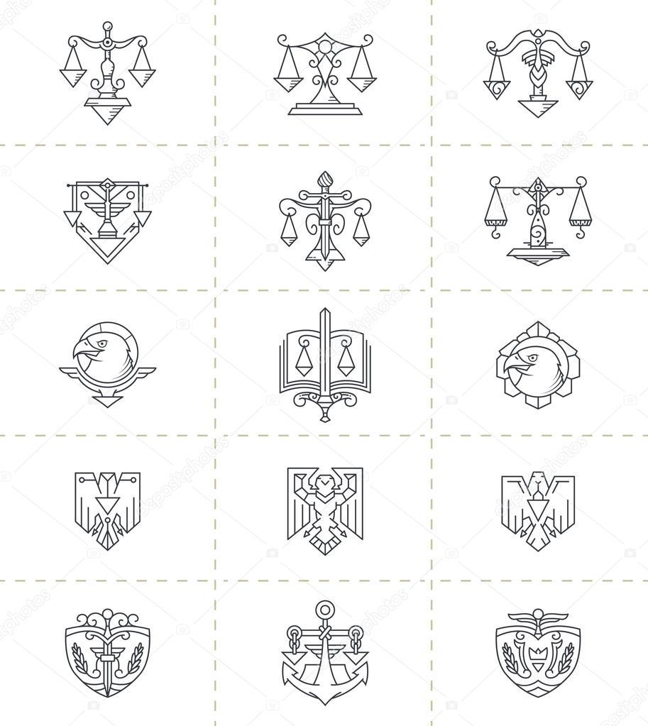 Justice Symbols Set Stock Vector Pixaroma 73178109