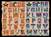 Sada písmen abecedy Halloween
