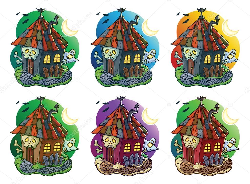 Illustration De Dessin Anime De Maison Hantee Image Vectorielle
