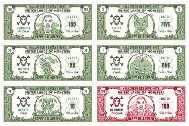 Halloween Money Banknotes Set