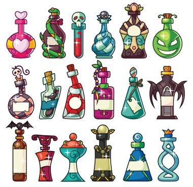Halloween Magic Potion Bottles Set