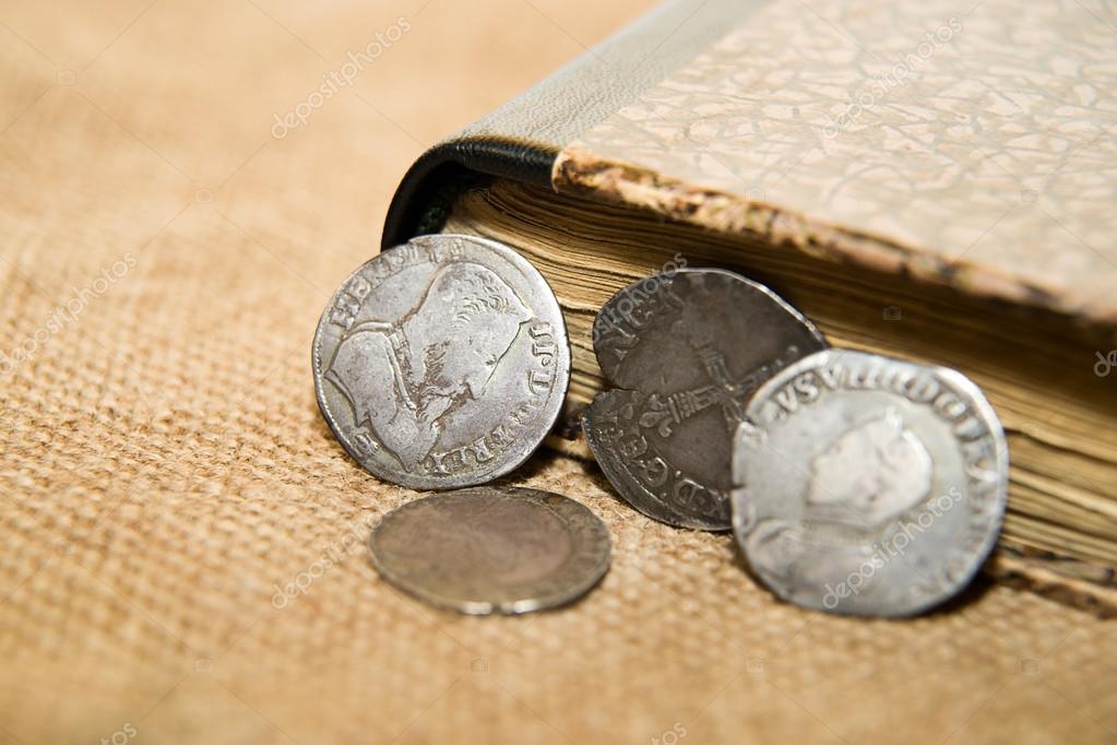 Französische Alte Münze Mit Einem Portrait Des Königs Ist Auf Das