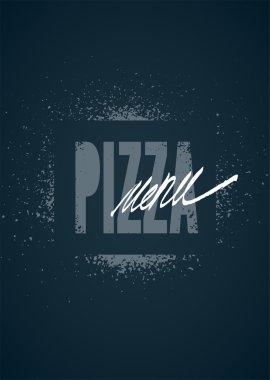 Restaurant menu design for pizza. Poster for pizzeria. Vector illustration.