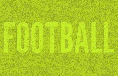 Football green grass background. Mowed the word