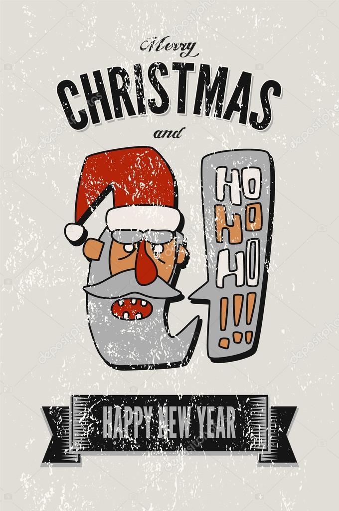 Jahrgang Weihnachtsgrüße Kartengestaltung mit Santa Claus ...