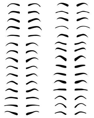 eyebrows, tattoo design