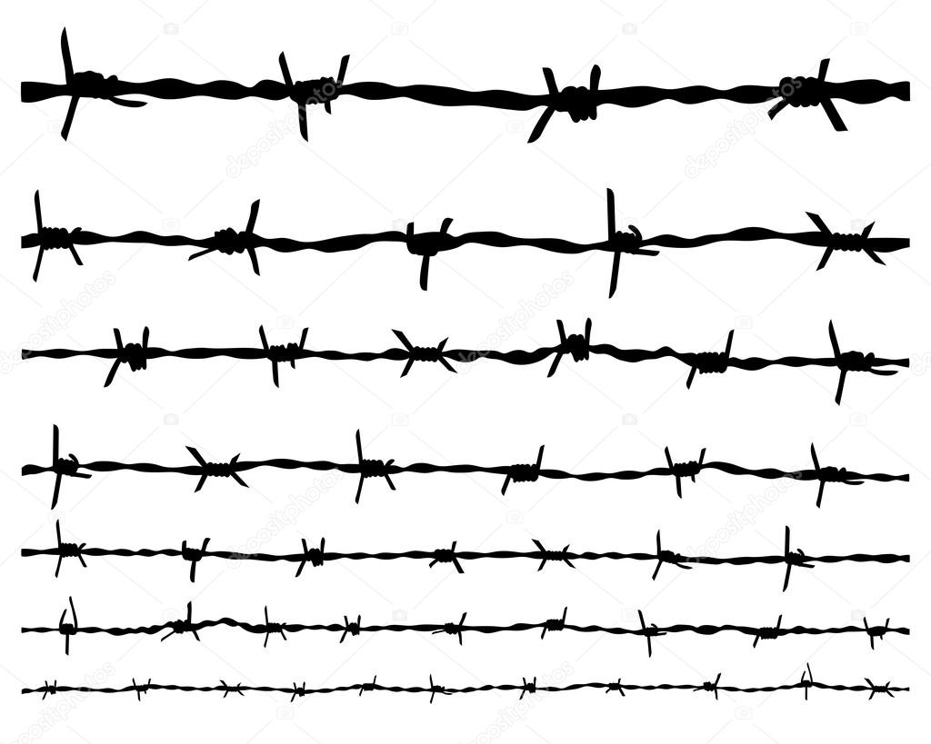 barbed wire — Stock Vector © vukam #77217511