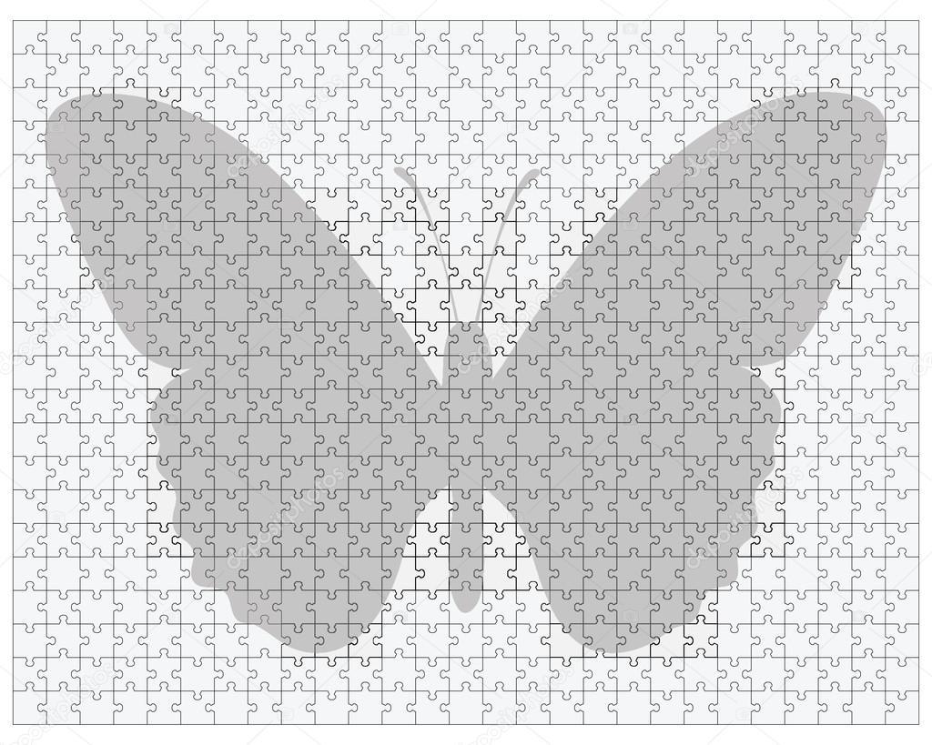 en el gran rompecabezas de la mariposa — Archivo Imágenes ...