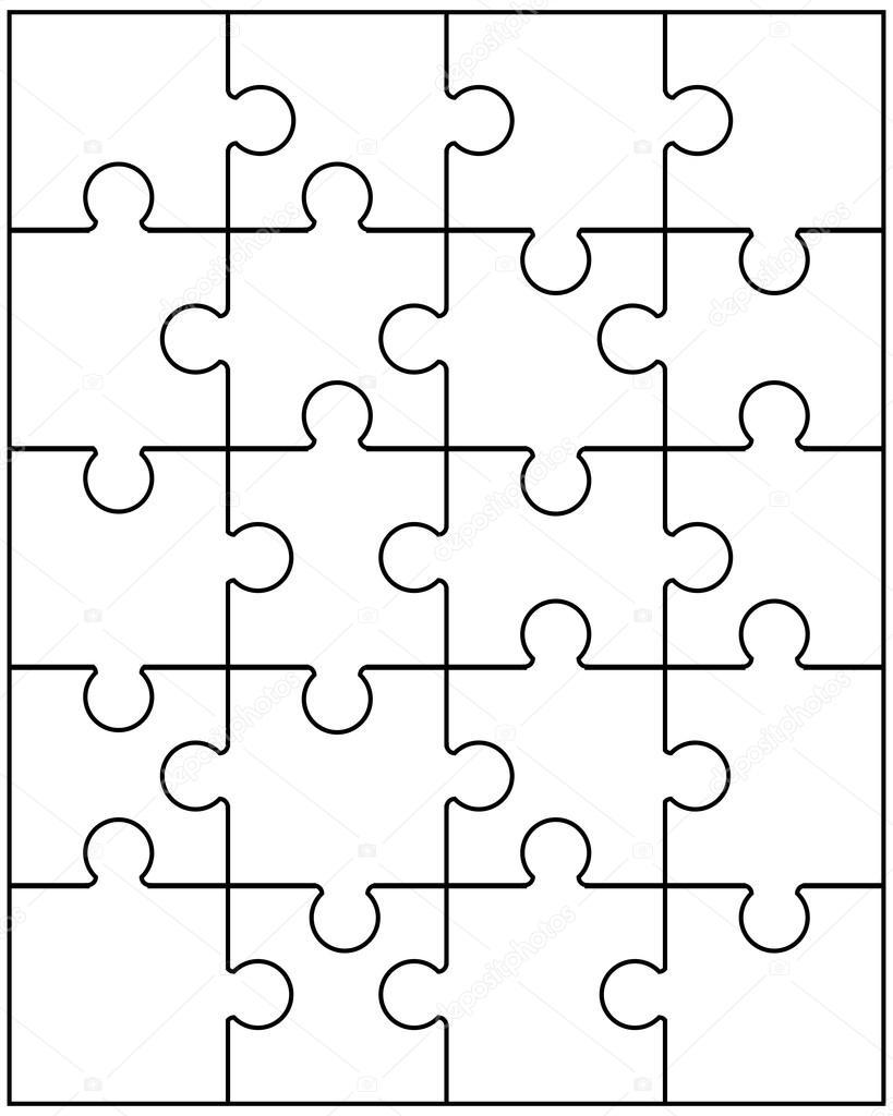 puzzle blanco 9 — Vector de stock © vukam #99868542