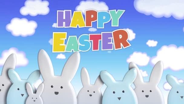 Boldog húsvéti nyuszi március hurok