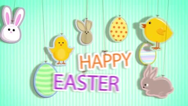 Veselé Velikonoce s řetězci připojena smyčka