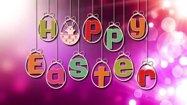 Happy Easter on Strings over Lights Loop