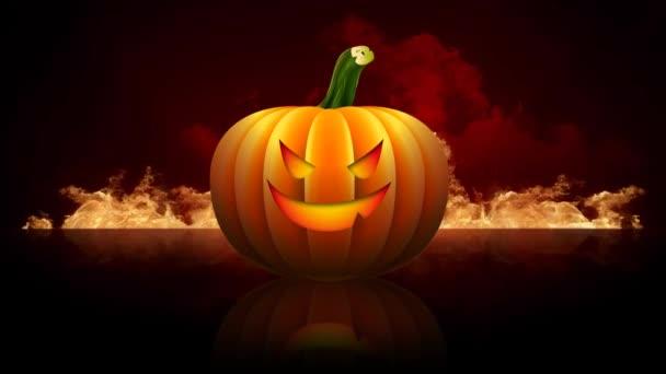 Halloween Jack O lucernou v pekle 4k smyčka