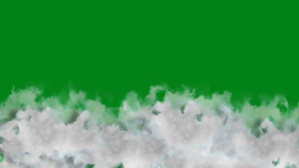 Slight Movement Green Screen 4K Loop funkciókkal rendelkező felhők finom mozgással egy zöld képernyő ellen egy hurok