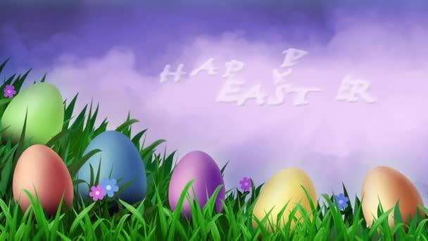 Fialový text Sky Veselé Velikonoce