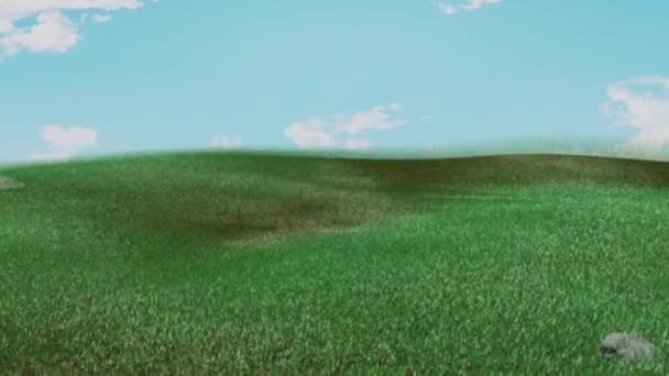 Myslím, že jarní tráva s Bunny stín
